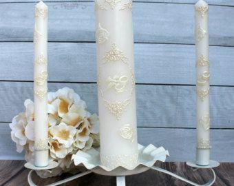 Unidad conjunto de velas velas pintadas a mano por LessCandles