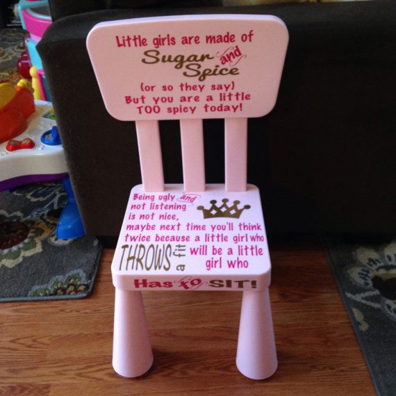 little girl 39 s time out chair by amyroodoesit4u on etsy little girls pinterest chairs. Black Bedroom Furniture Sets. Home Design Ideas