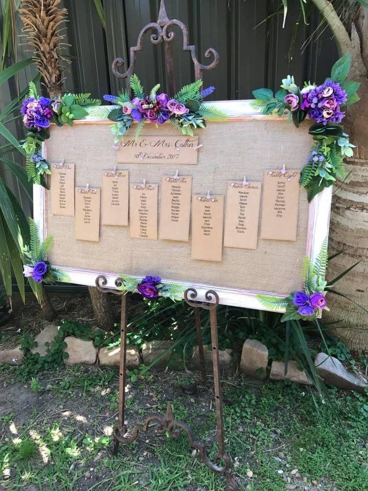 Purple seating plan