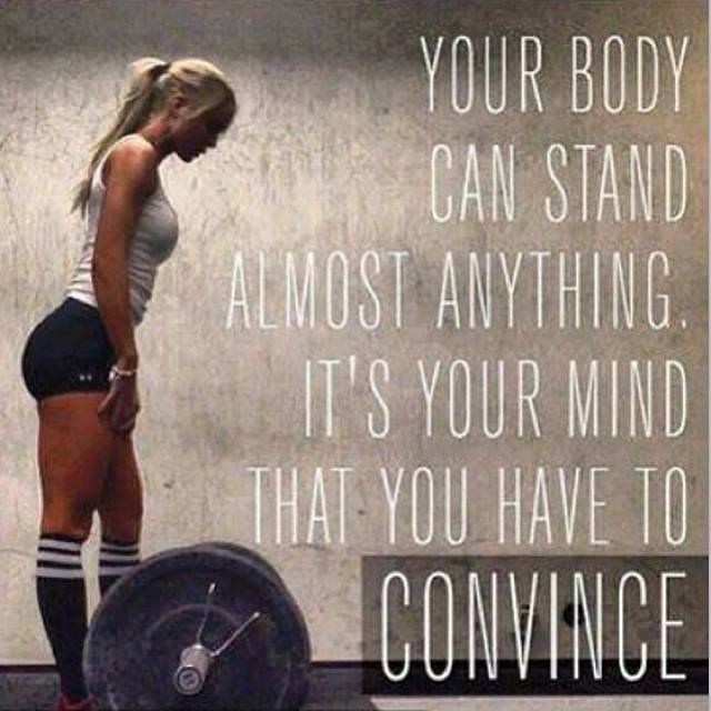 Your body doesn't quit.  Your mind does.  Keep fighting. #fitspo #inspiration #motivation