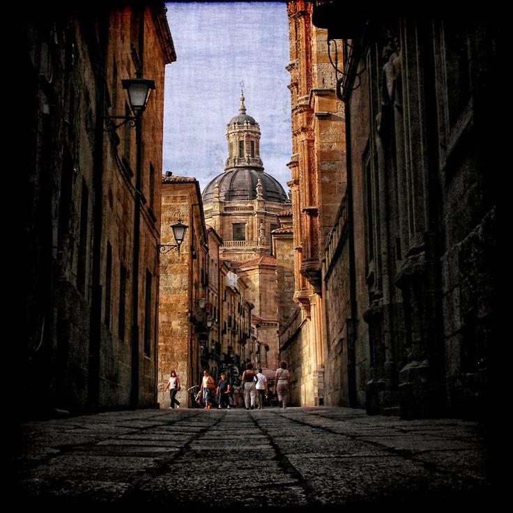 Salamanca, Spain. The Old City was declared a UNESCO World Heritage Site in 1988. In the imagen, La Clerecía.