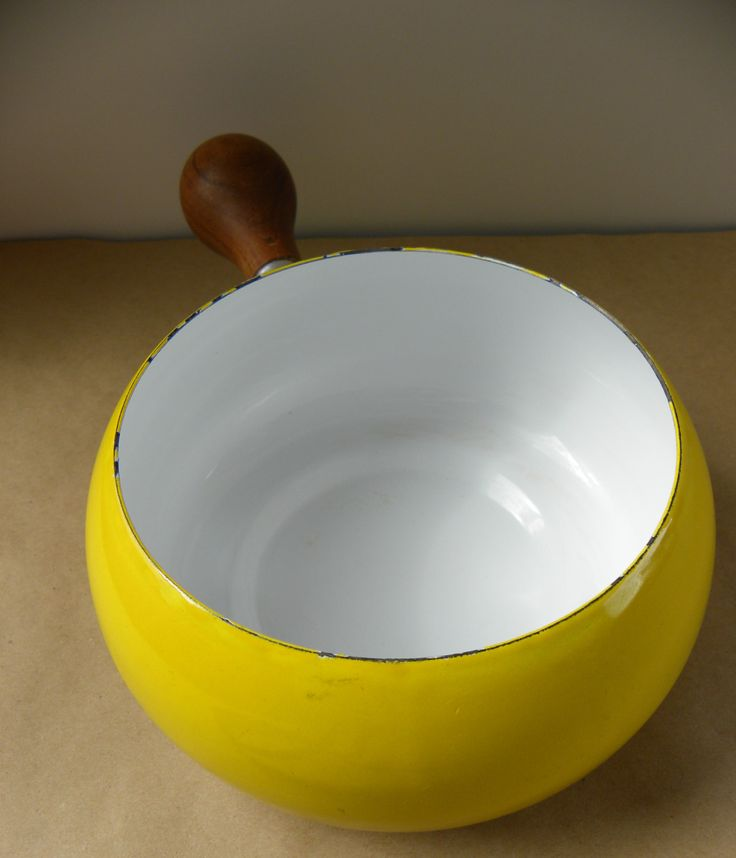 Sunny Yellow Mid Century Modern Saucepan with by PacificWhim, $15.00
