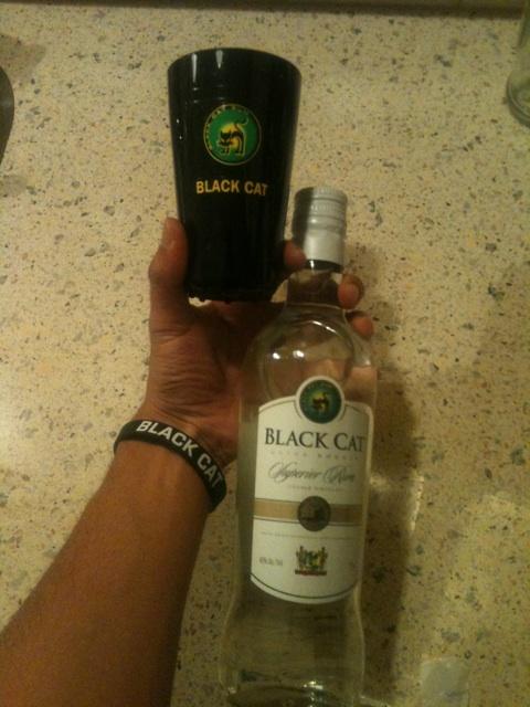ImSipping Black Cat Superior Rum straight outta Surinam right now.