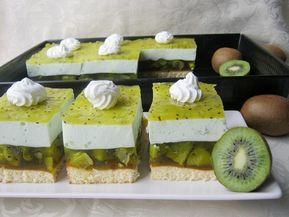 Svieži koláč s kúskami kiwi a jogurtovou plnkou z jedného plechu. Recept sme si priniesli z dovolenky a je super
