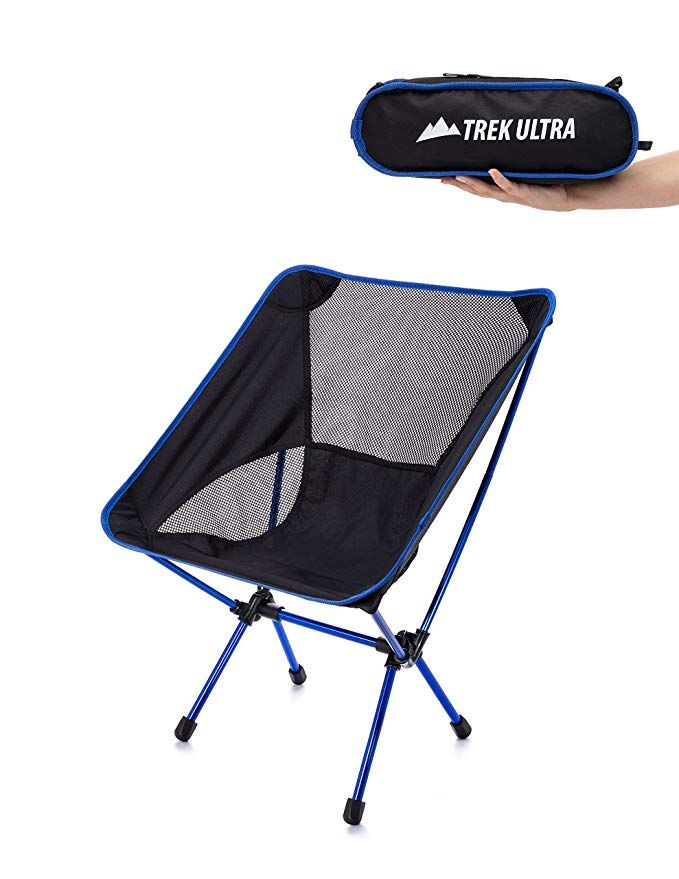 Folding Sports Chair Bed Sleeper Sale Trekultra Portable Compact Lightweight Camp With Bag Ultralight Chairs Great Beach Hiking Backpacking And Sporting Events