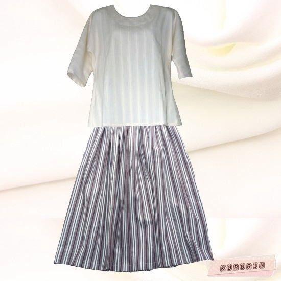 ベージュ系にパープルのストライプ柄ギャザースカートウエストがゴムだから着脱もしやすく普段着として気軽に着用して頂けます。ショート丈のトップスと合わせるのがオス... ハンドメイド、手作り、手仕事品の通販・販売・購入ならCreema。
