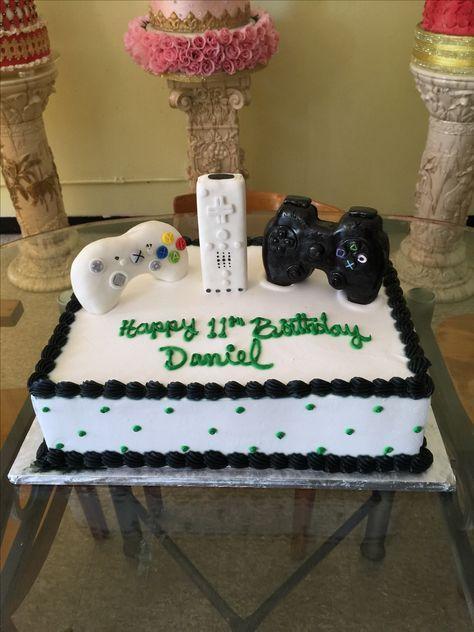 Video Game Control Birthday Cake Visit Us Facebook Marissascake Or