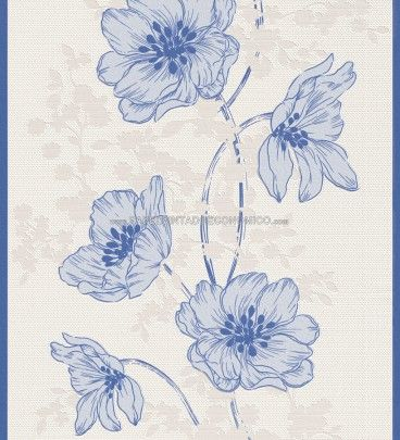 PAPEL PINTADO RASCH 432053 - PERSONAL AFFAIRS. ¡Papel pintado amapolas azules a 29,95 €! Papeles pintados ideales para decorar las paredes de un gran salón-comedor, habitaciones o espacios abiertos con mucha luz.