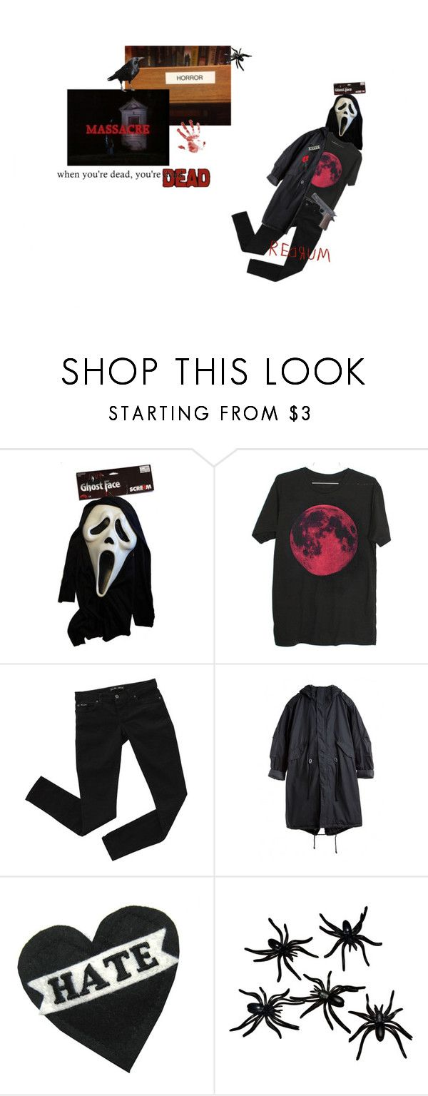 """""""drain all the blood and give the kids a show"""" by stilltown ❤ liked on Polyvore featuring Bardot, Olympia Le-Tan, Halloween, Dark, grunge, blood and horror"""