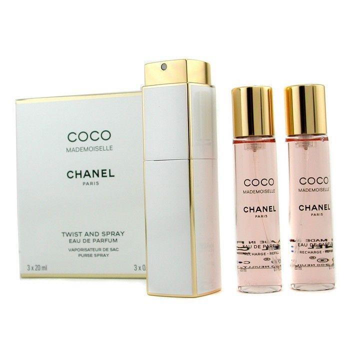Coco Mademoiselle Giftset 2x Eau De Parfum Spray Refill 20ml/1x Eau De Parfum Spray 20ml - Twist And Spray 60ml - Product Image
