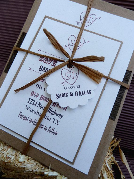 Barn Wedding Rustic Country Western Invitation by designunfurls on Etsy, $4.75