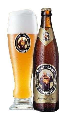 Franziskaner is the most popular German Weiss Bier (wheat beer). Enjoy it with a Weisswurst and a Bretzel.