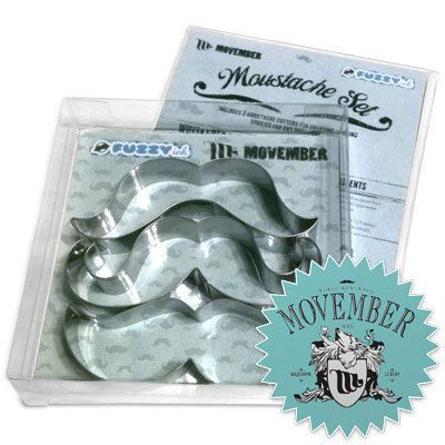 Movember - Cookie Cutters, Movember, Mustaches,  Great Bakery Gift, Stainless Steel - via Etsy.