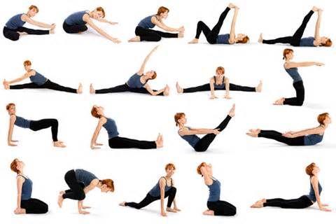 yoga em casa  posições  yoga para iniciantes exercícios