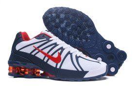 287bc6e539e Advanced Nike Shox Kpu White Red Navy Blue Shox Nz Mens Athletic ...
