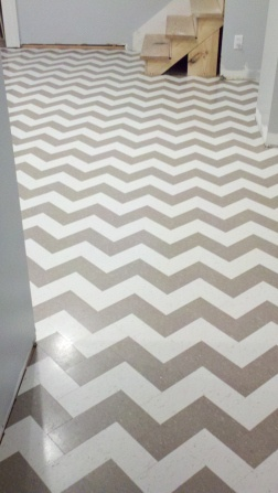 Chevron vct.  Love this for the salon!!