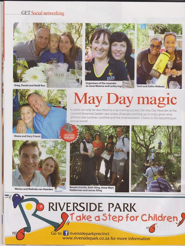This years Mayday Meander sponsored by Obikwa is featured in this June edition of the Get-It Lowveld magazine. Pick up a copy or take a look online here. Many thanks to the folks at Get-It.