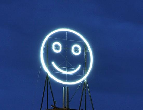 'Public Face 3', neon created by artists Julius von Bismarck, Richard Wilhelmer and Benjamin Maus