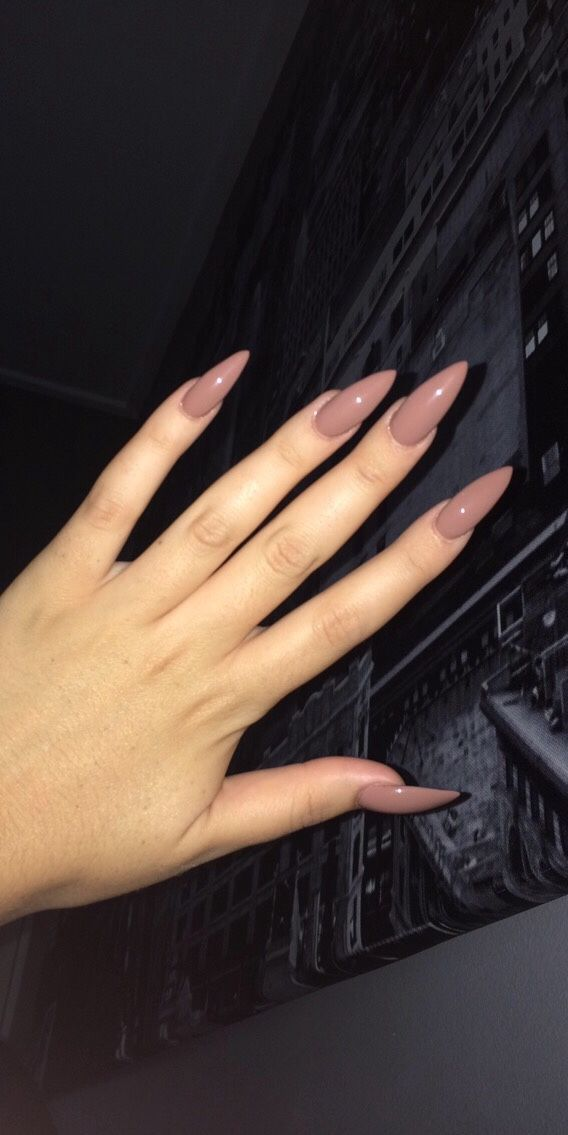 Muted pink stiletto nails                                                                                                                                                      More