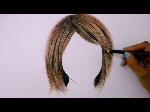 ▶ Cómo dibujar cabello con lápices de colores (Tutorial) - YouTube