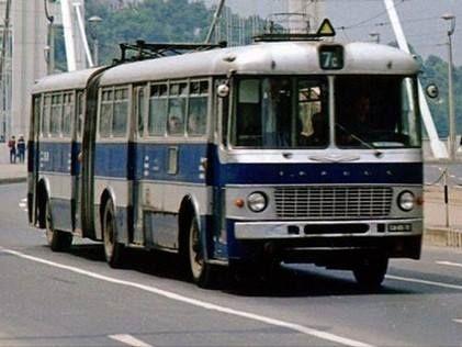 Ikarus 180 a '70-es évekből. Budapesti Közlekedési Vállalat
