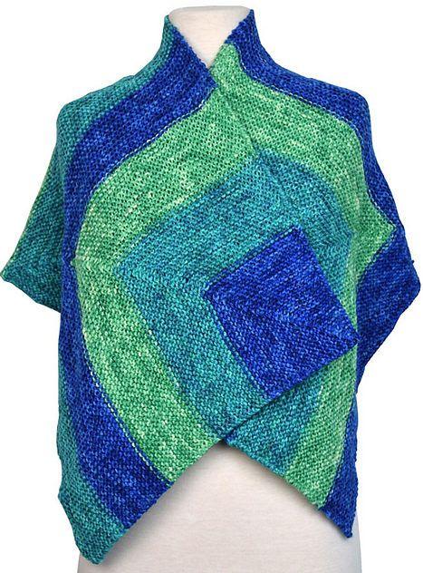 Stort, løst sjal i retstrikning fra samme firma som Miss Grace. Der er vejledning til en ensfarvet version og en version i 3 farver. Let at strikke. Godt til store størrelser. Pinde 5. Læs mere ...