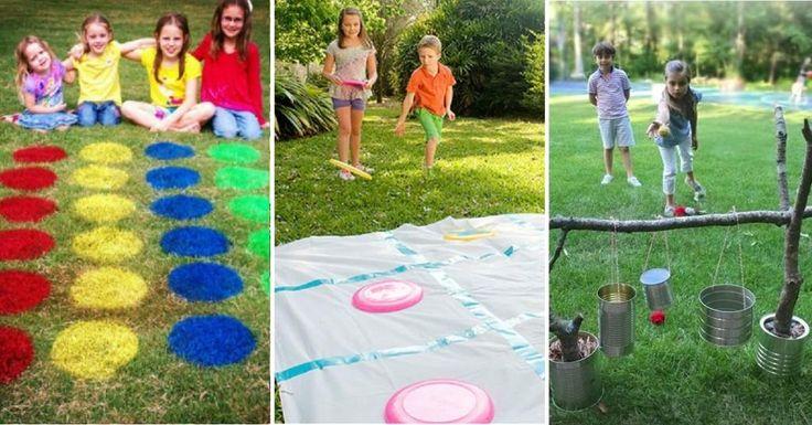 21 JEUX SUPER COOL à bricoler, pour amuser les enfants cet été! - Bricolages…
