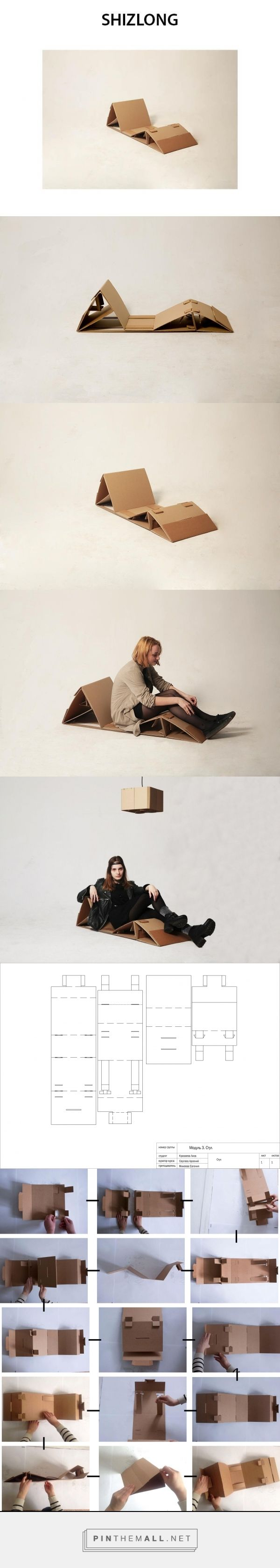 Cardboard chaise lounge by Elizaveta Krazaeva Curator: Arseniy Sergeev HSE ART AND DESIGN SCHOOL 2016