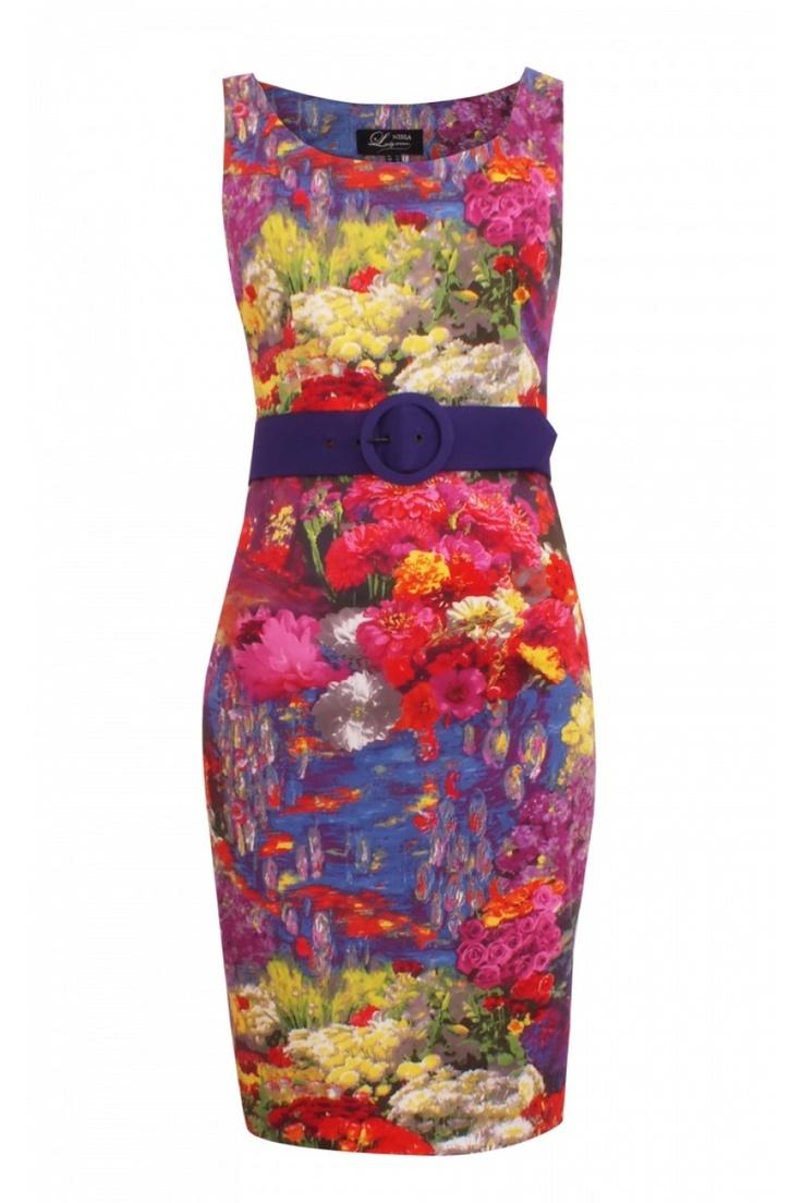 Rochie NISSA cu imprimeu floral, Marimi 36, 38, 40, 42, 44, 46 si 48 #rochiinissa2013