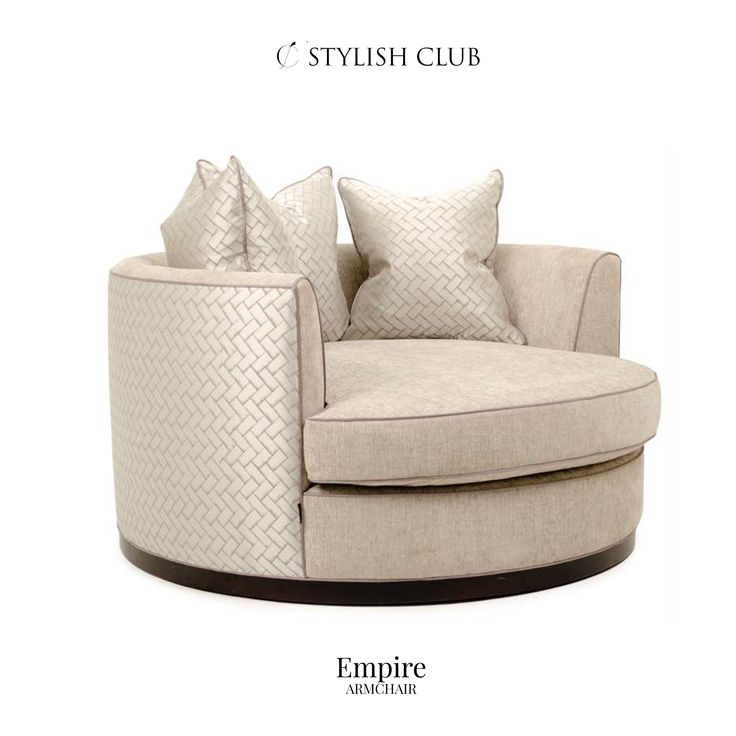 The perfect combination of quality and style, the Empire armchair will make a timeless addition to your home.
