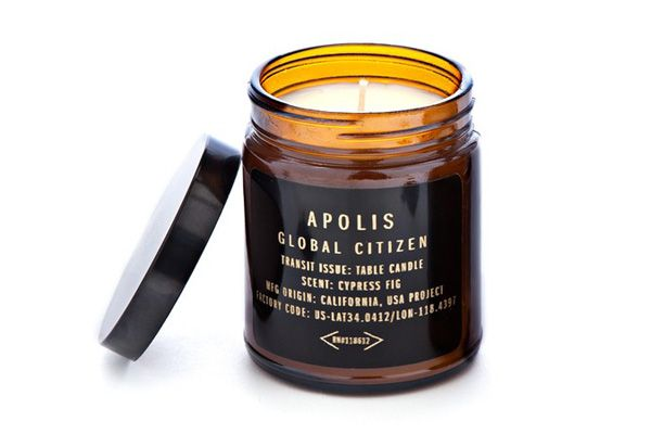 Crafted in the USA, these chic #candles help Apolis, a lifestyle brand that attempts to empower communities worldwide by providing artisans with fair employment and equal access to a global marketplace. Apolis cypress-fig travel candle #giftguide #giftideas #giftsthatkeepongiving #giftsformen