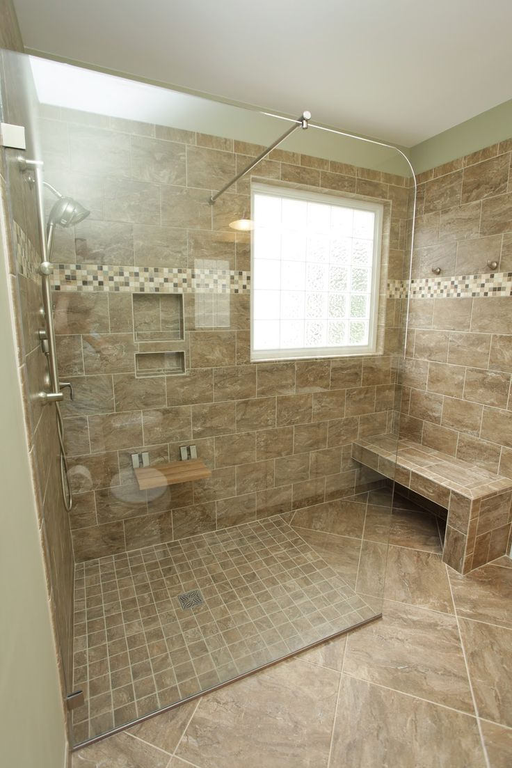 Shower benches tile bath started out as your traditional bath complete with a small shower