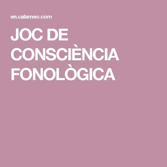 JOC DE CONSCIÈNCIA FONOLÒGICA