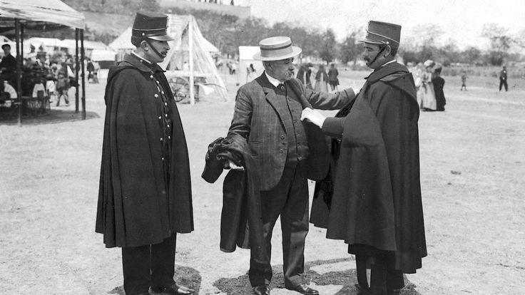 El maestro Chueca en la pradera de San Isidro, en 1907