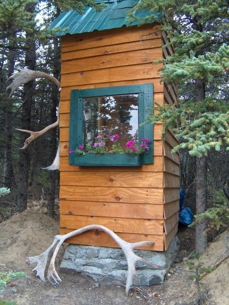 outhouses | All outhouses should have window and flowerboxes.)