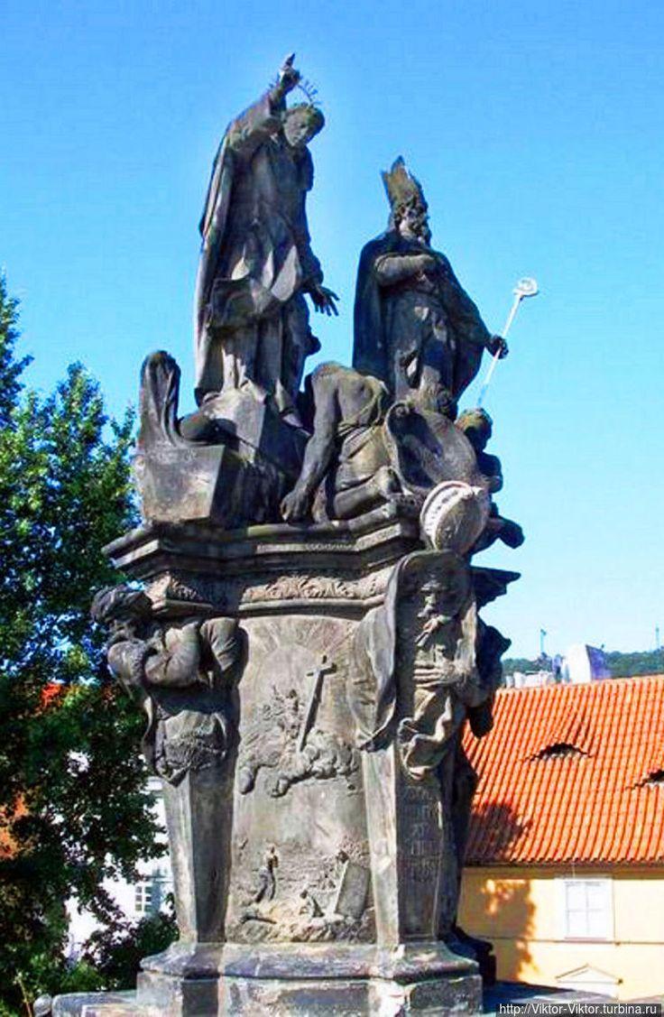 Святые Винсент Феррер и Прокоп Сазавский, добровольно принявшие суровую жизнь аскета и обратившие в христианство тысячи язычников, иудеев и арабов (1712 год, Фердинанд Брокоф).