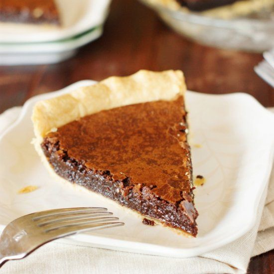 Chocolate Crack Pie - amazingly rich & fudgy.
