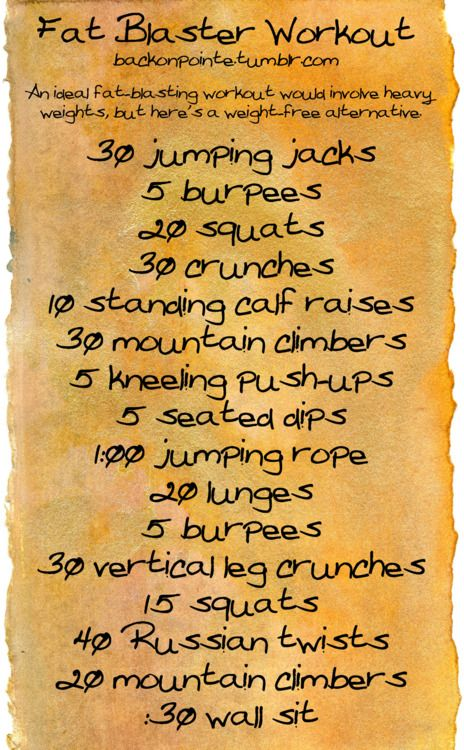 Weightless full body workout