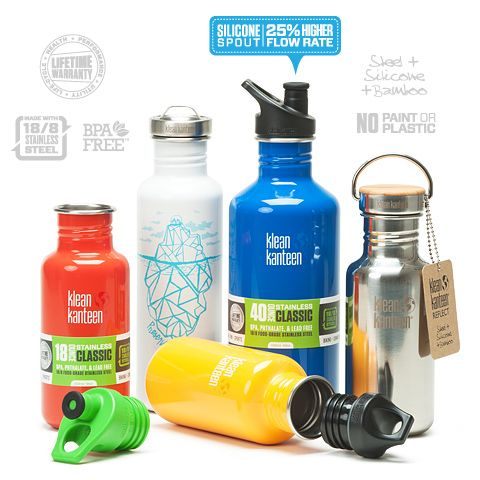 Klean Kanteen instead of plastic water bottle.  Lids avaliable in BPA-free plastic, stainless steel and bamboo.