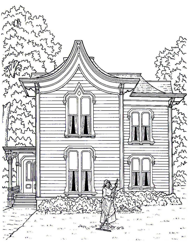 20 best Victorian Houses Coloring Book Pages images on