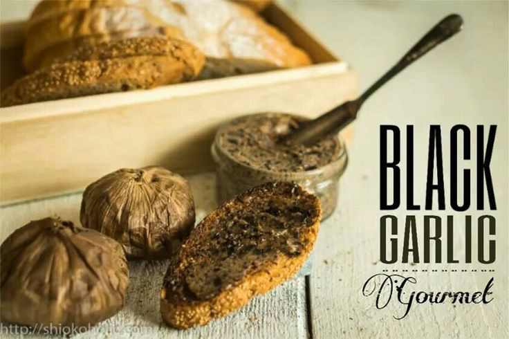 Black garlic butter on toast by http://shiokoholic.com