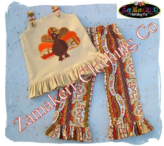3 / 3T READY TO SHIP  Fall Thanksgving by ZamakerrClothingCo, $25.99
