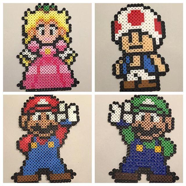 Super Mario perler beads by Mosh Jason Productions