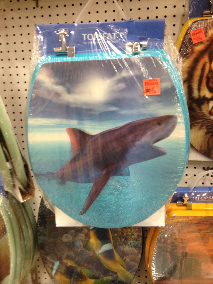 Holographic shark toilet seat cover ftw shark attack pinterest toilets toilet seats and for How do sharks use the bathroom