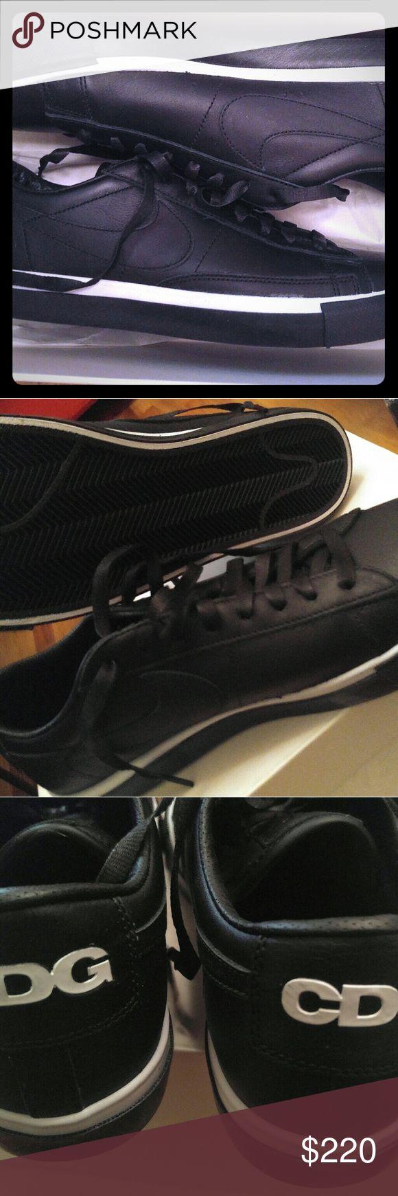 Nike CDG (Comme de Garcon) black leather Sneakers Nike CDG (Comme de Garcon) black leather Sneakers. Brand new open box  Nike CDG Comme des Garcon Shoes Sneakers