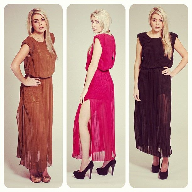 'Safia' sheer pleated maxi - perfect for summer! What's your favourite shade?