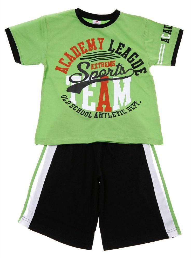 Παιδικά ρούχα AZshop.gr - New College παιδικό σετ μπλούζα-παντελόνι βερμούδα «Extreme Sports» €15,00