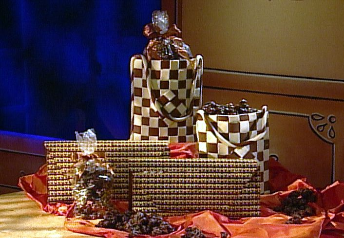 Chocolate Handbags recipe from Chocolate with Jacques Torres via Food Network