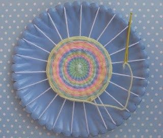 Paper Plate Weaving - Re-pinned by #PediaStaff.  Visit http://ht.ly/63sNt for…