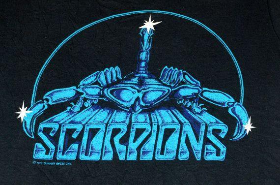 Vintage 1970's Scorpions Love Drive Album Concert Tour T ...